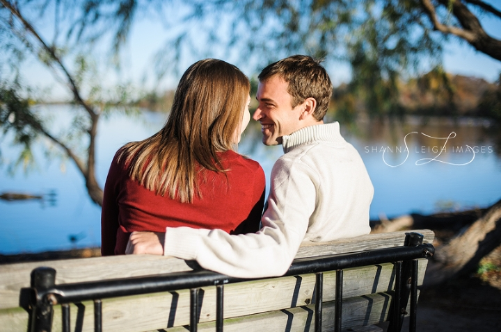 A sunrise engagement session at White Rock Lake in Dallas, Texas.
