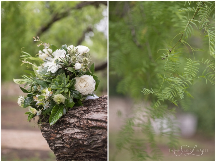 Lush white and green florals from Amanda and Steve