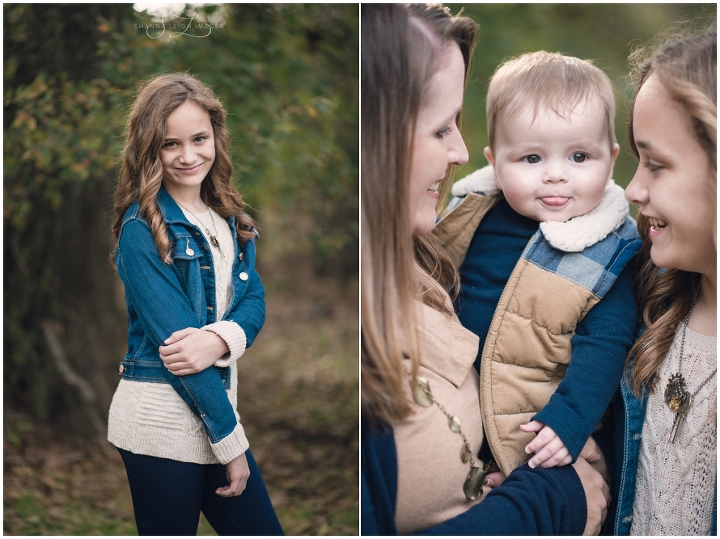 The Dixon family paired navy blue with earth tones for their Southlake family photo session at Bob Jones Nature Center.