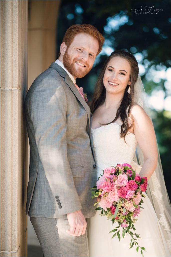 Lexie and Johnathan during their first look at their Fort Worth wedding at St. Stephens Presbyterian Church.